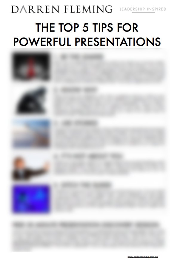 Get The Top 5 Tips of Powerful Presentations - FREE