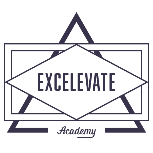 triangle logo for excelevate academy