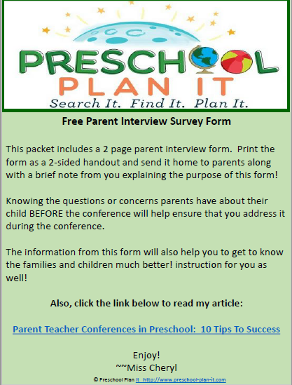 parent conference form