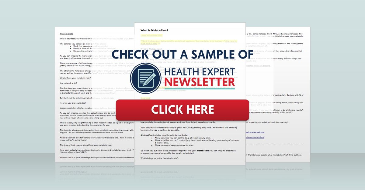 Done-for-you Health Expert Newsletter