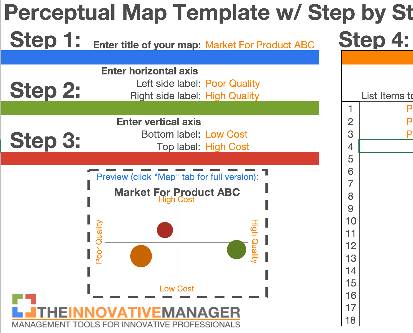 Perceptual Map Template