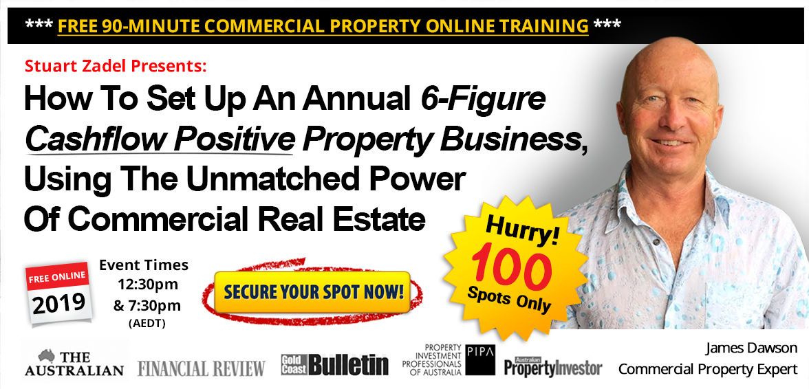 FREE Commercial Property Online Training Webcast 90 Minutes with James Dawson
