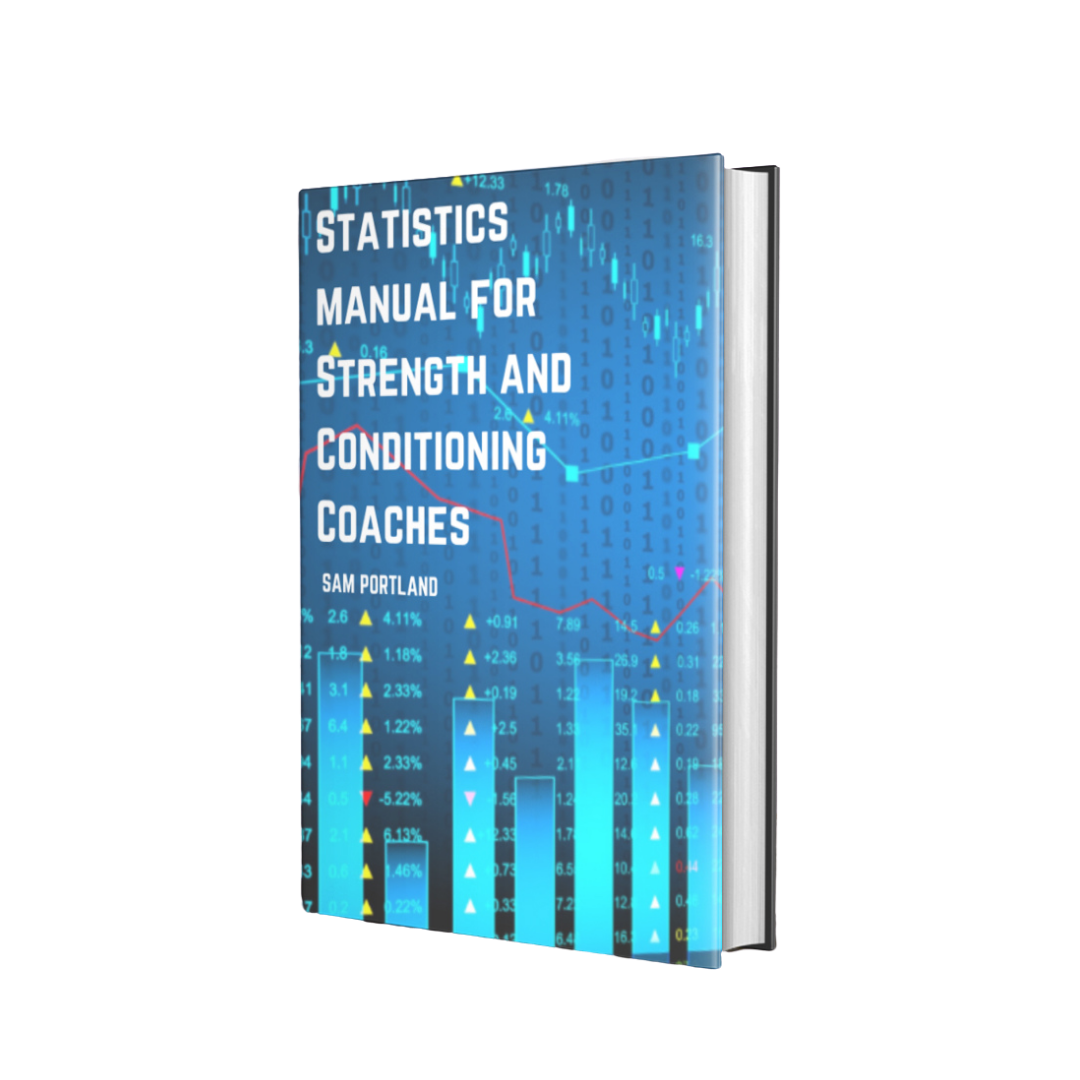 Shows people the cover of Statistics Manual for Strength and Conditioning Coaches