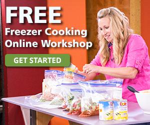 advert for free freezer cooking online workshop
