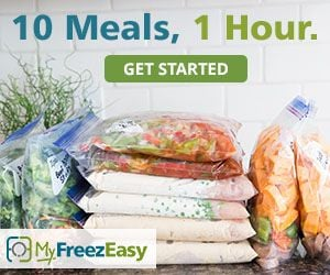 my freezeasy meals 10 meals 1 hour.