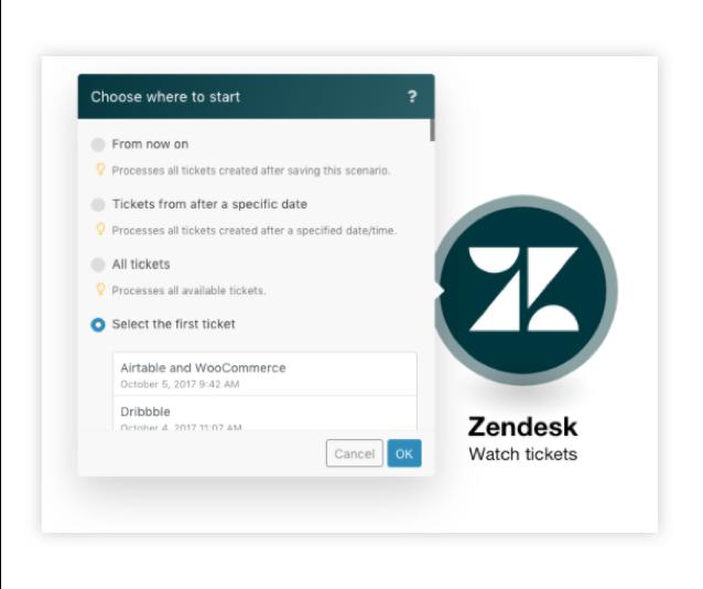 Screenshot of automation using Zendesk