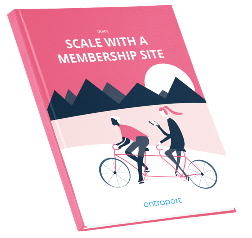 Scale With a Membership Site Guide book cover image