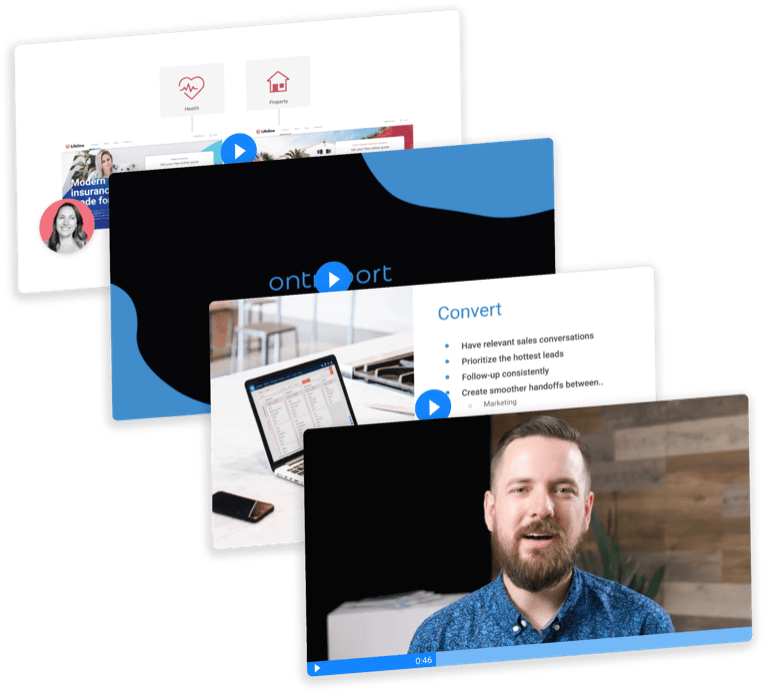 Screenshots of Ontraport's Marketing Automation Masterplan course