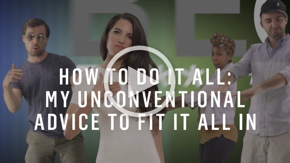 display images to learn unconventional advice to fit it all in!